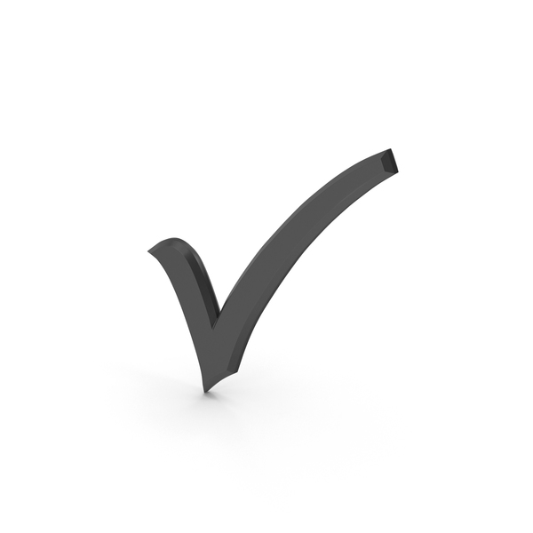 Check Mark Black PNG & PSD Images