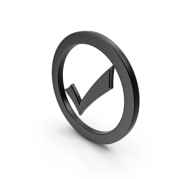 Symbols: Check Mark Black PNG & PSD Images