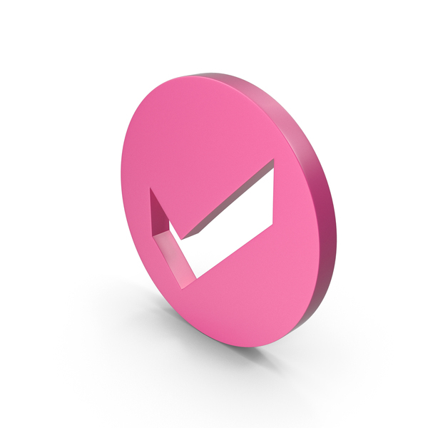 Check Mark Pink PNG & PSD Images