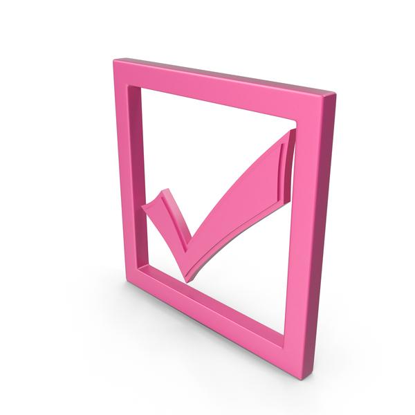 Symbols: Check Mark Pink PNG & PSD Images