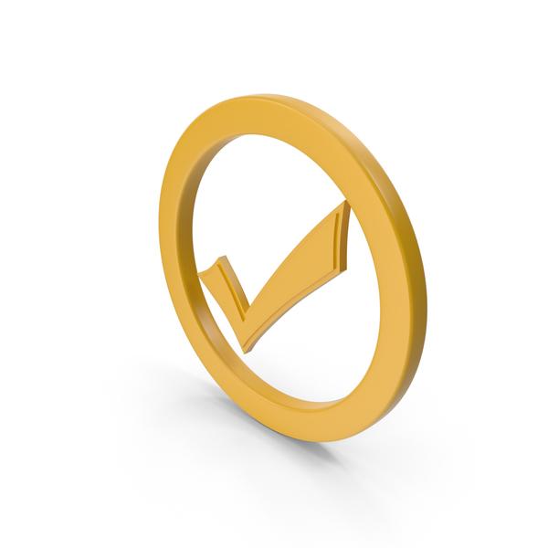 Logo: Check Mark Yellow PNG & PSD Images