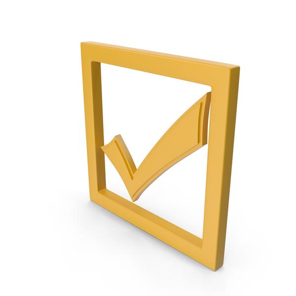 Symbols: Check Mark Yellow PNG & PSD Images