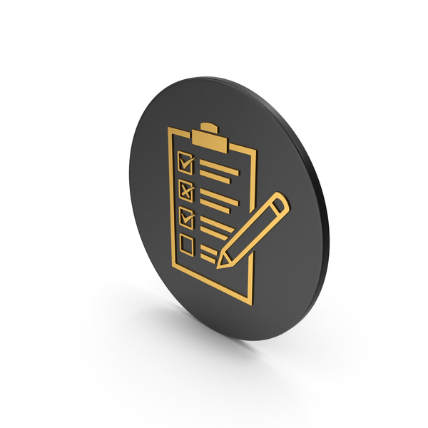 Industrial Equipment: Checklist Gold Icon PNG & PSD Images