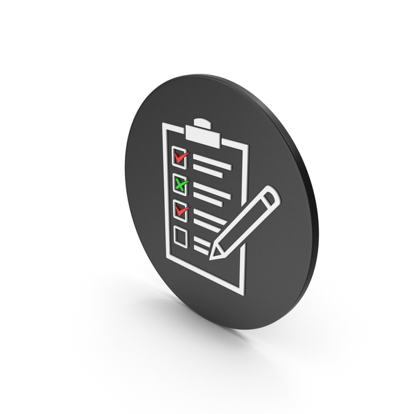 Industrial Equipment: Checklist Icon PNG & PSD Images