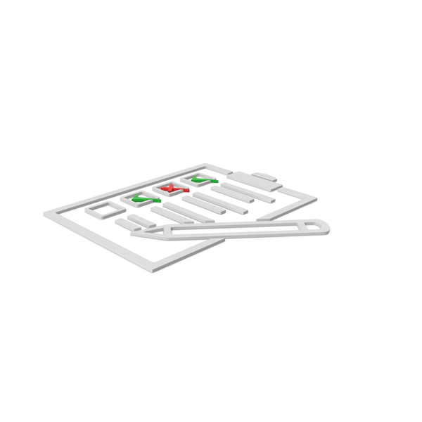 Industrial Equipment: Checklist Symbol PNG & PSD Images