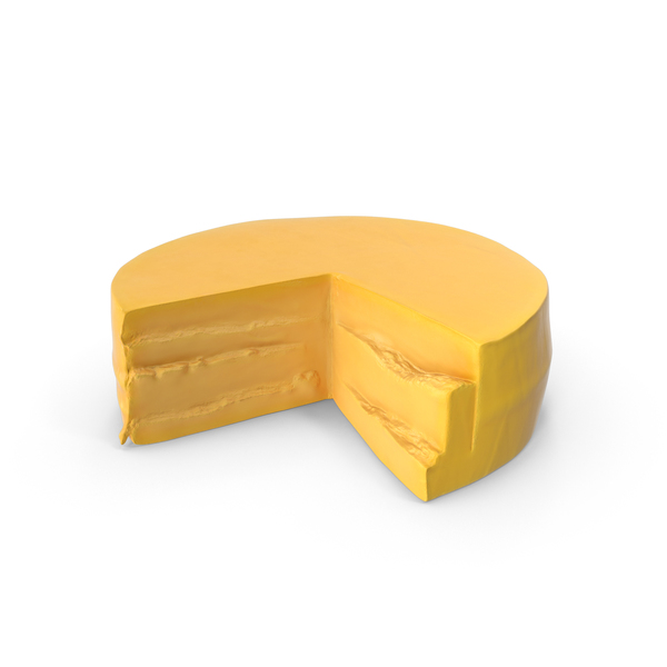 Cheddar Cheese Wheel Object