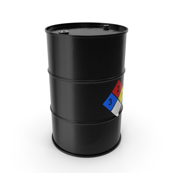 Chemical Barrel with NFPA 704 Diamond PNG & PSD Images