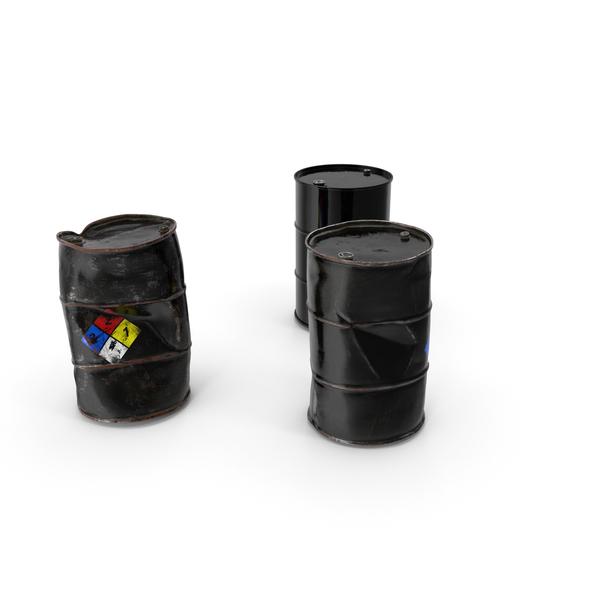 Steel Barrel: Chemical Barrels NFPA 704 Set PNG & PSD Images