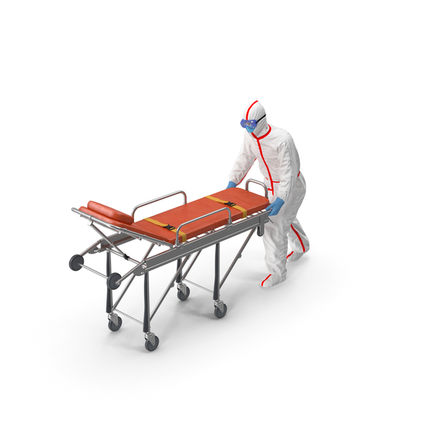 Chemical Protective Suit with Ambulance Hospital Bed Gurney PNG & PSD Images