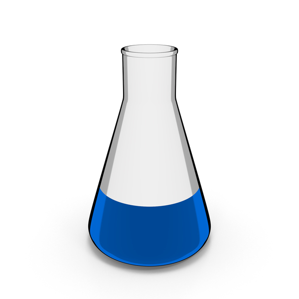 Lab: Chemistry Flask Cartoon PNG & PSD Images