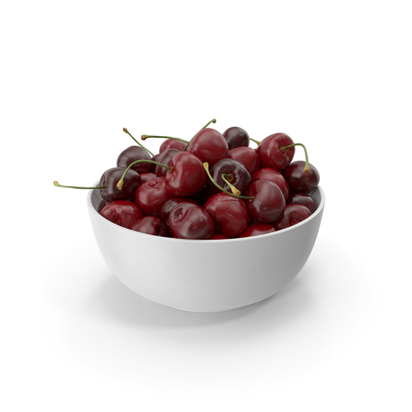 Cherries in a Bowl PNG & PSD Images