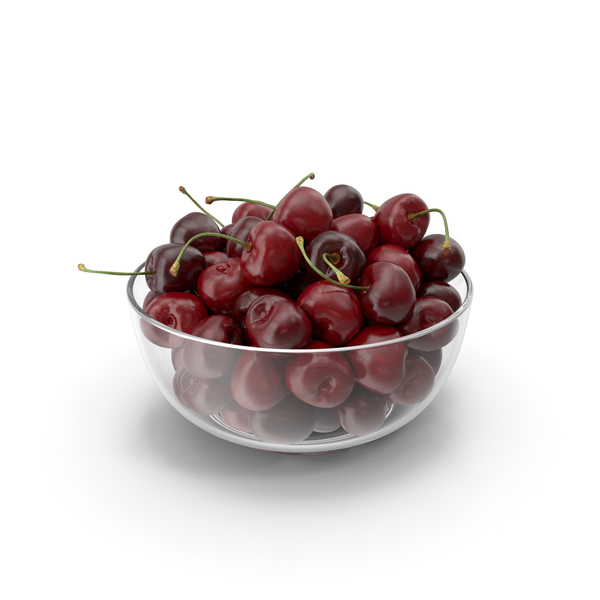 Cherries in a Glass Plate PNG & PSD Images