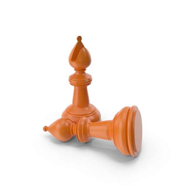 Chess Bishop Orange PNG & PSD Images