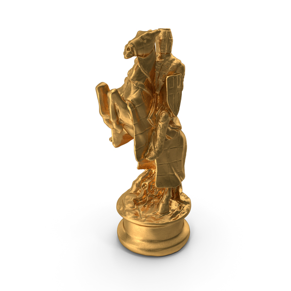 Chessmen: Chess Piece Knight Gold PNG & PSD Images