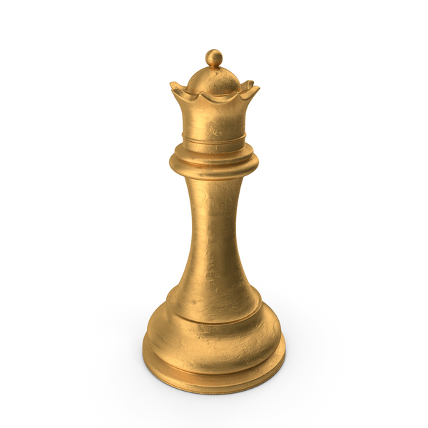 Chess Piece Queen Gold PNG & PSD Images