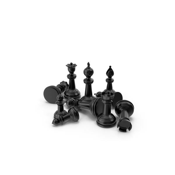 Chessmen: Chess Pieces Black PNG & PSD Images