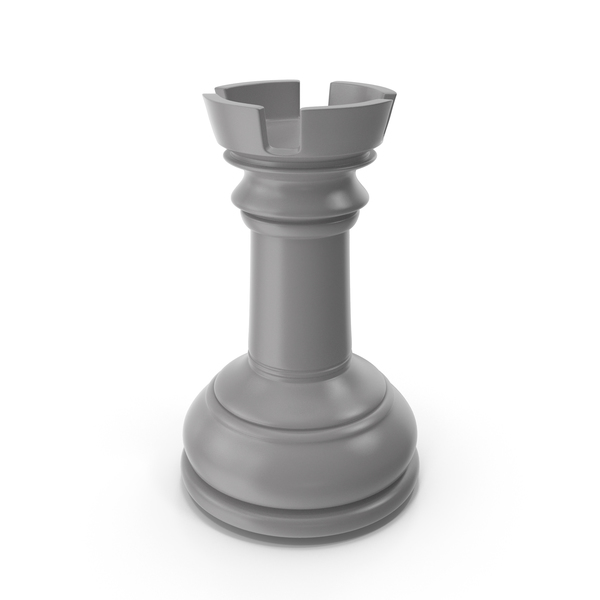 Chessmen: Chess Rook Grey PNG & PSD Images
