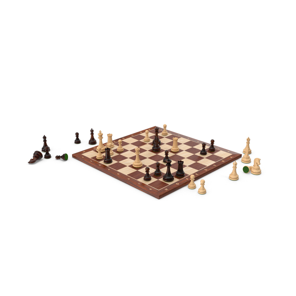 Chess Set Wooden Green Velvet PNG & PSD Images