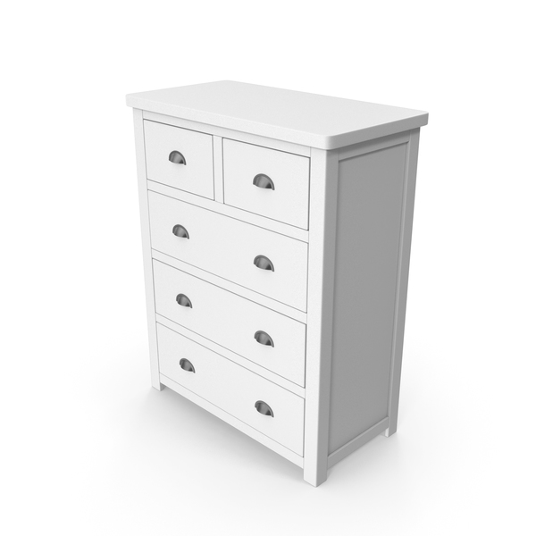 Dresser: Chest Of Drawers White PNG & PSD Images