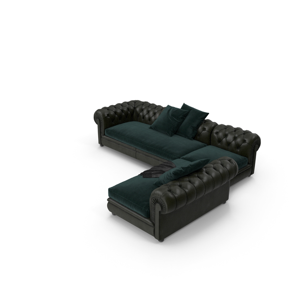 Sectional Sofa: Chester Line PNG & PSD Images