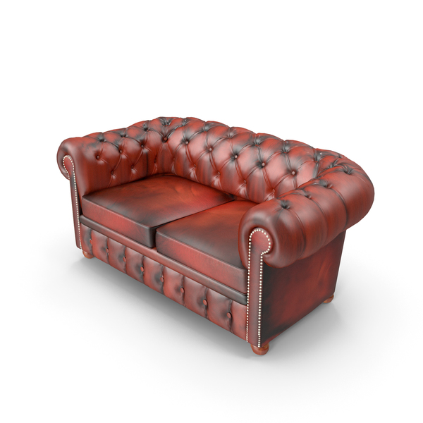 Chesterfield Leather Sofa PNG & PSD Images