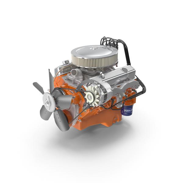 Chevrolet 350 Small-Block V8 LT-1 370 302 PNG & PSD Images