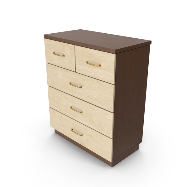 Four Drawer Dresser: Chiffonier Commode PNG & PSD Images