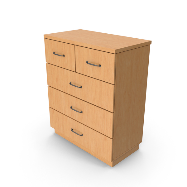 Four Drawer Dresser: Chiffonier Wooden Commode PNG & PSD Images