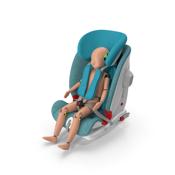 Child Crash Test Dummy in Safety Seat PNG & PSD Images