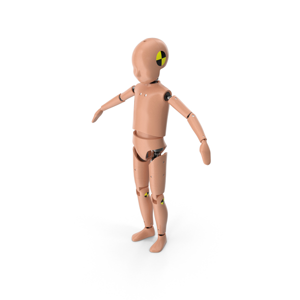 Child Crash Test Dummy T-Pose PNG & PSD Images