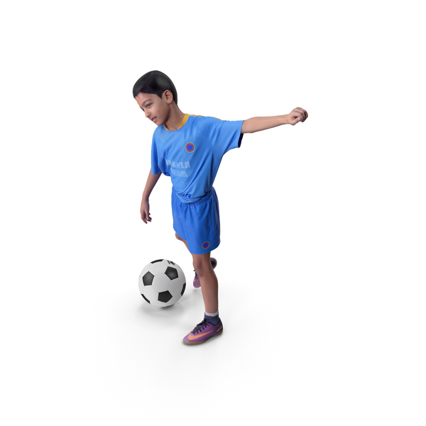 Child Football Player With Ball PNG & PSD Images