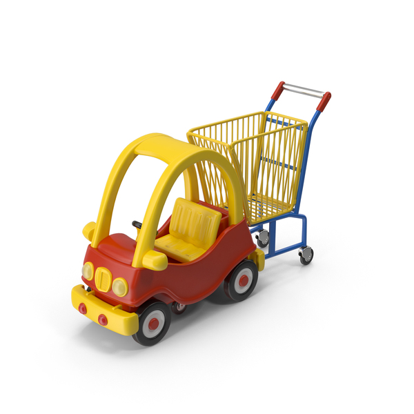 Child-Friendly Shopping Cart PNG & PSD Images