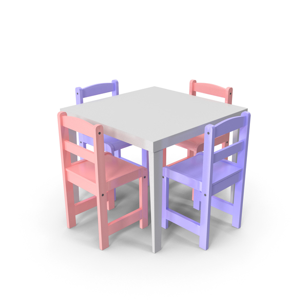Children's Table: Children Chair PNG & PSD Images