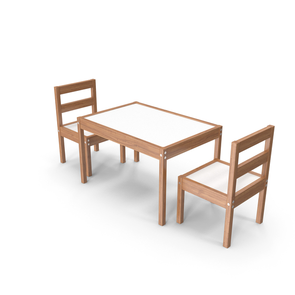 Dining Room Set: Children's Activity Table PNG & PSD Images