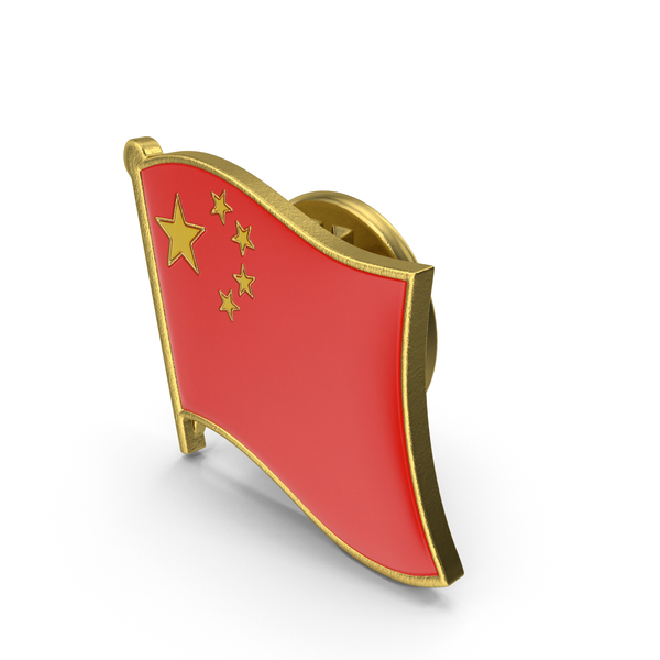 China National Flag Lapel Pin PNG & PSD Images