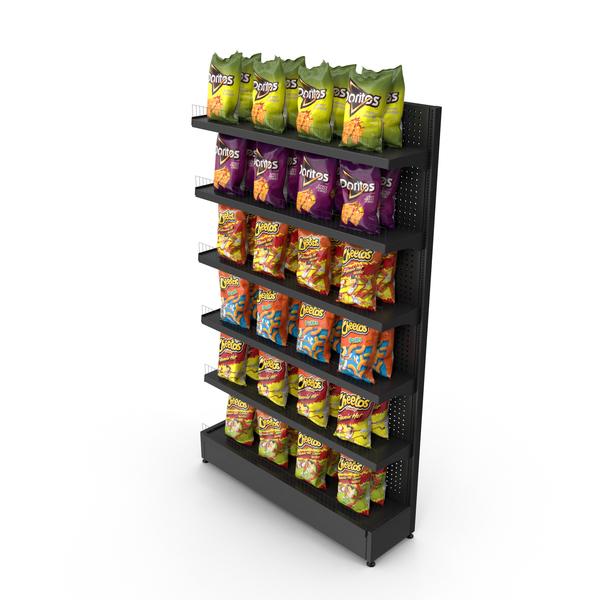 Supermarket: Chips Shelving PNG & PSD Images