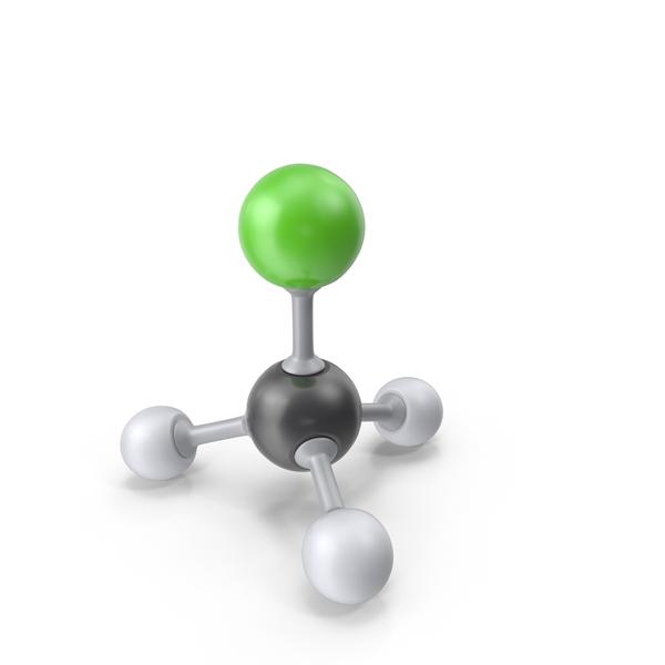 Chloromethane Molecule PNG & PSD Images