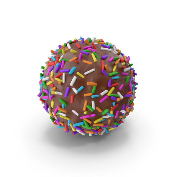 Chocolate Ball with Colored Pops PNG & PSD Images