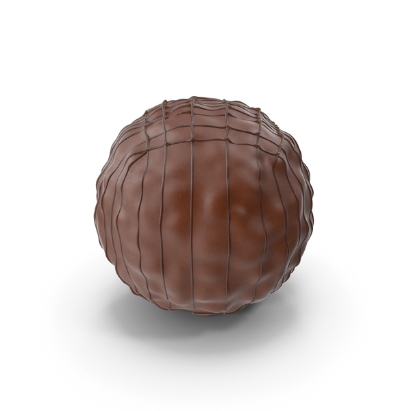 Chocolate Ball with Chocolate Lines PNG & PSD Images