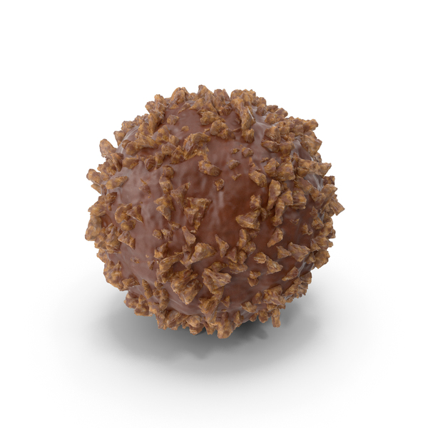 Chocolate Ball with Nuts PNG & PSD Images