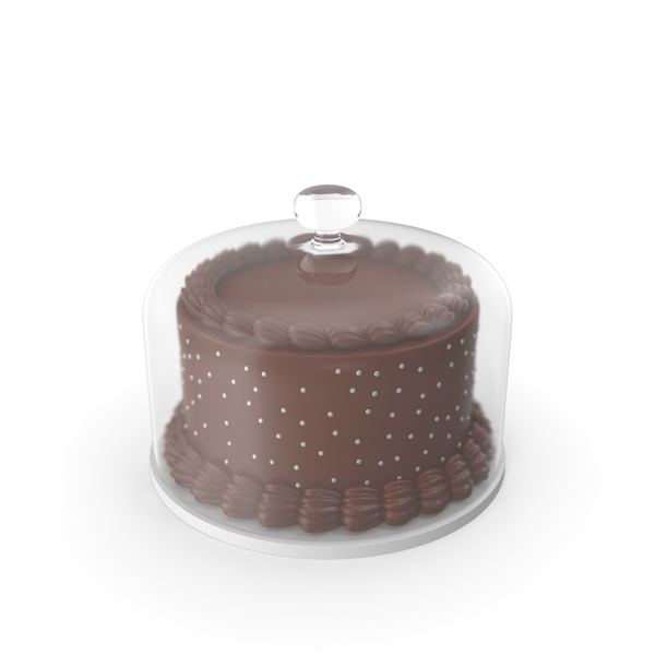 Chocolate Cake with Glass Dome PNG & PSD Images