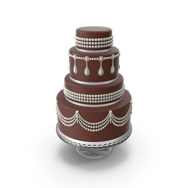 Chocolate Cascade Wedding Cake PNG & PSD Images