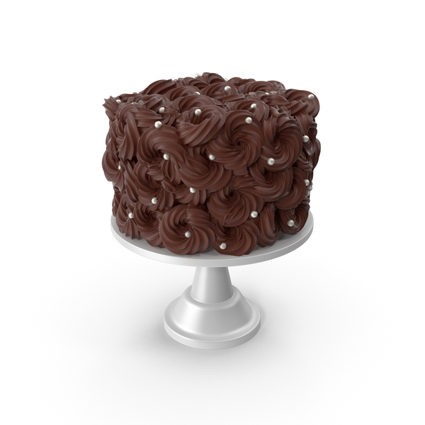 Chocolate Flower Cake with Pearls PNG & PSD Images