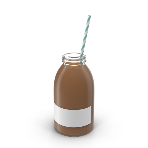 Chocolate Milk Bottle PNG & PSD Images