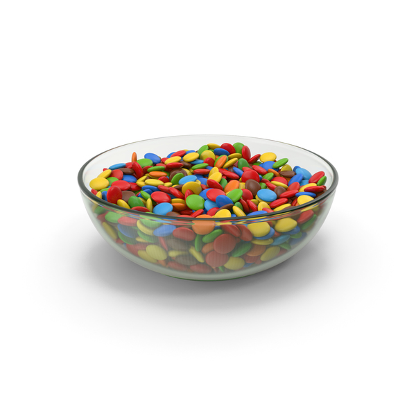Chocolate Sweets In Glass Bowl PNG & PSD Images