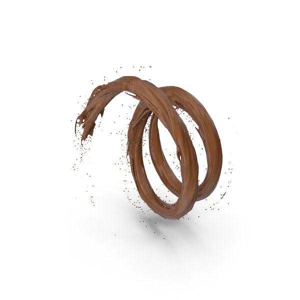 Splash: Chocolate Vortex Tunnel PNG & PSD Images