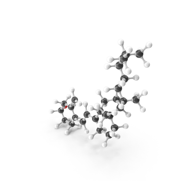 Cholecalciferol (Vitamin D) Molecular Model PNG & PSD Images