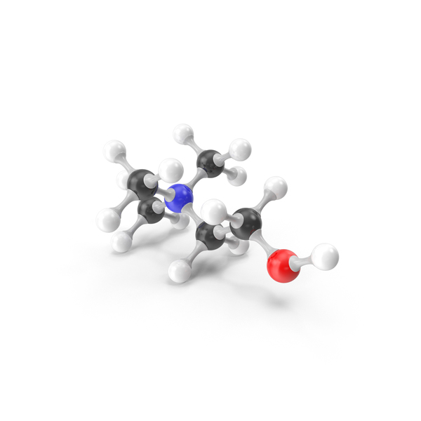 Choline (Vitamin B4) Molecular Model PNG & PSD Images