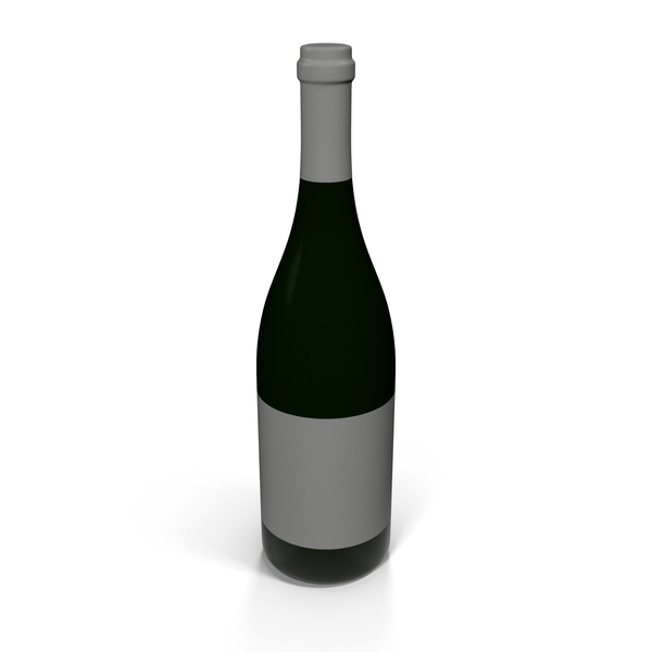 Chompagne Wine: Champagne Bottle White PNG & PSD Images