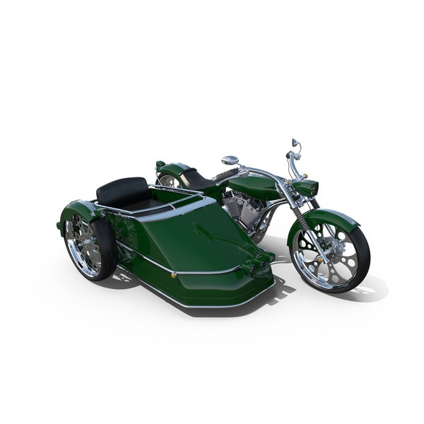 Chopper with Sidecar PNG & PSD Images
